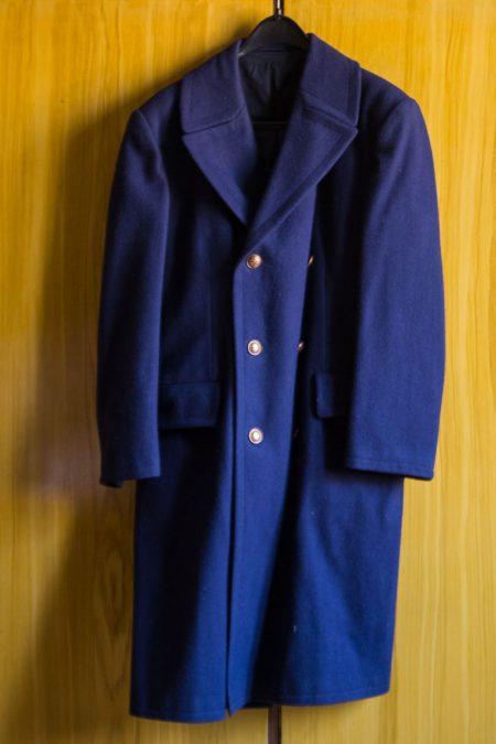 Eladó MÁV egyenruha hosszú szövetkabát újszerű retro gyűjtőknek is